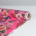 Tropical Floral Double Georgette - Fluro Pink