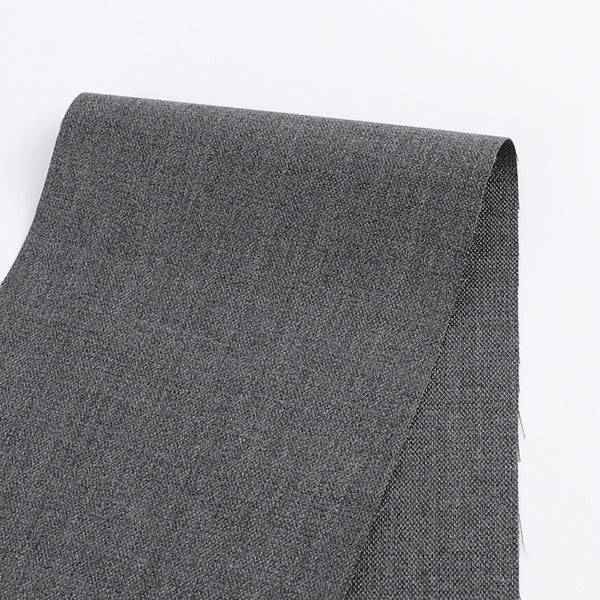 Turkish Wool Blend Shimmer Suiting - Grey - buy online at The Fabric Store