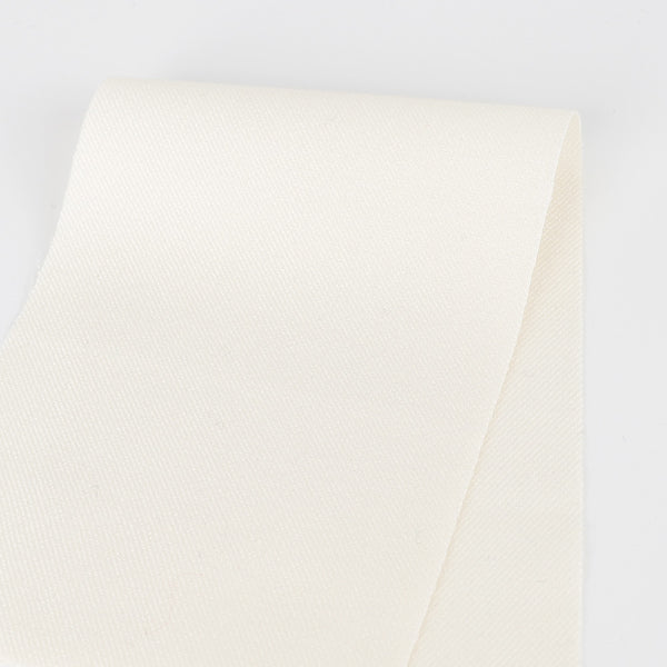 Japanese Wool Blend Twill Suiting - Cream
