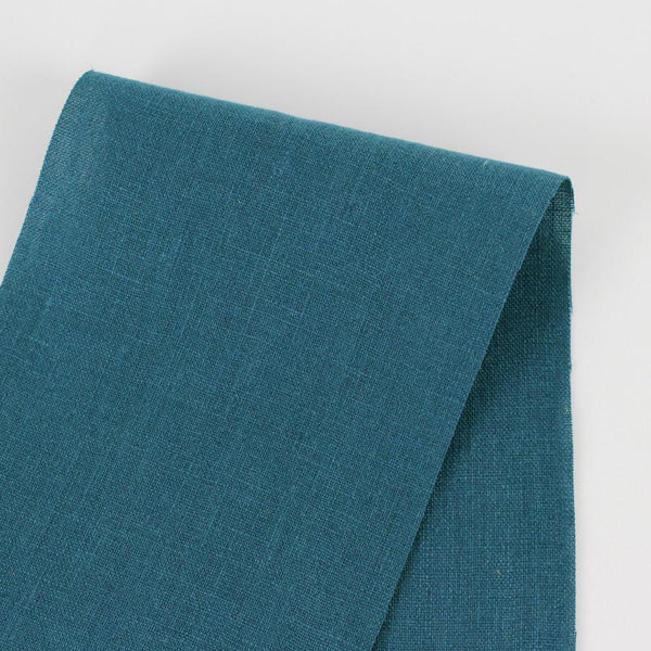 Vintage Finish Linen - Deep Teal - buy online at The Fabric Store