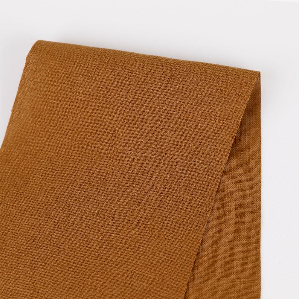 Vintage Finish Linen - Ochre - buy online at The Fabric Store