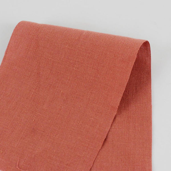 Vintage Finish Linen - Red Clay - buy online at The Fabric Store
