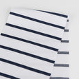 Weft Stripe Cotton Canvas - White / Navy