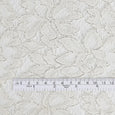 Silver Foil Lace - White - buy online at The Fabric Store