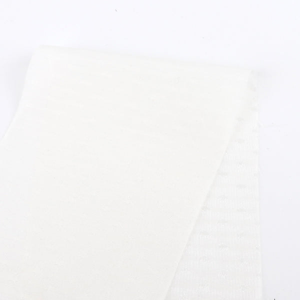 Dobby Silk / Cotton Voile - White