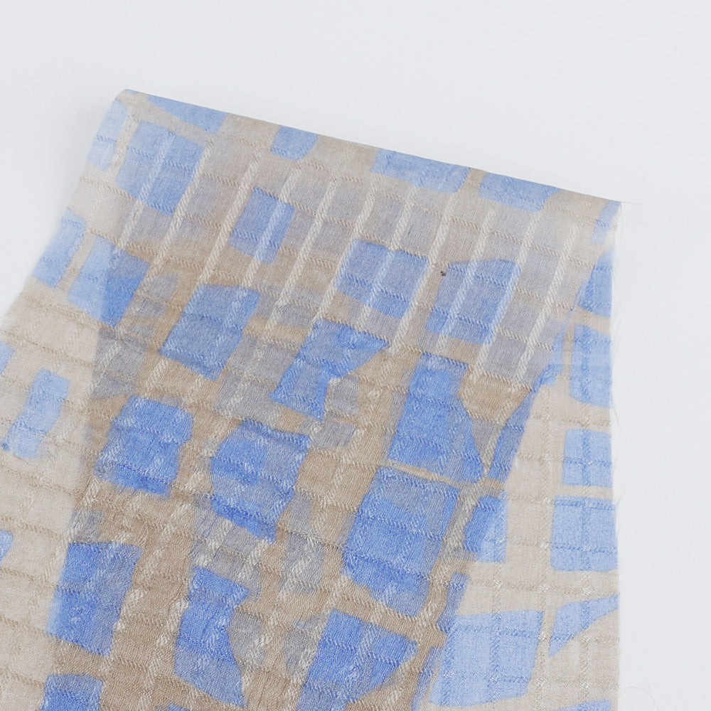 Windowlight Silk - Cornflower - buy online at The Fabric Store