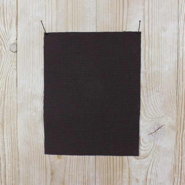 Wool / Viscose Micro Waffle Suiting - Chocolate