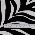 Zebra Print Cotton Jacquard - Black