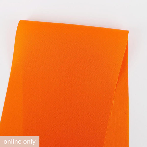 Japanese Showerproof Nylon Sateen - Fluro Orange