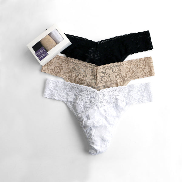 3 Pack Low Rise Thongs