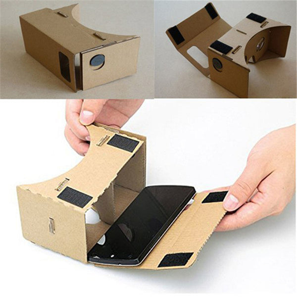 Cardboard Virtual Reality VR 3D DIY Box for 6in Screen