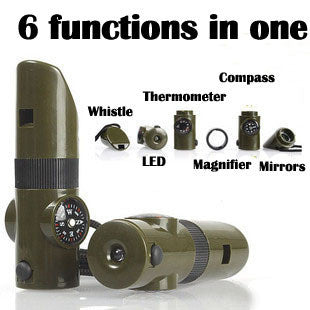 6 in 1 Multi-Functional Camping Tool