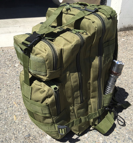 NPD Tactical Backpack and Flashlight Bundle