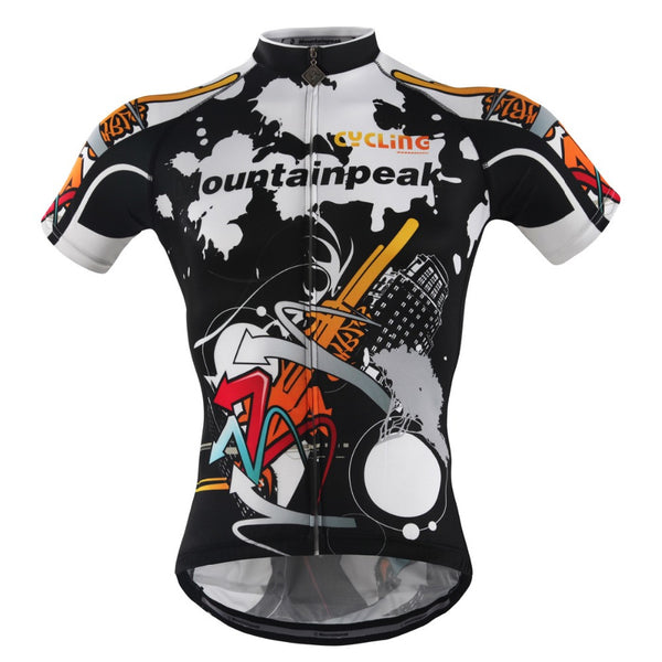 Tight Fit Zipper Style Mountain Peak Cycling Short Sleeve