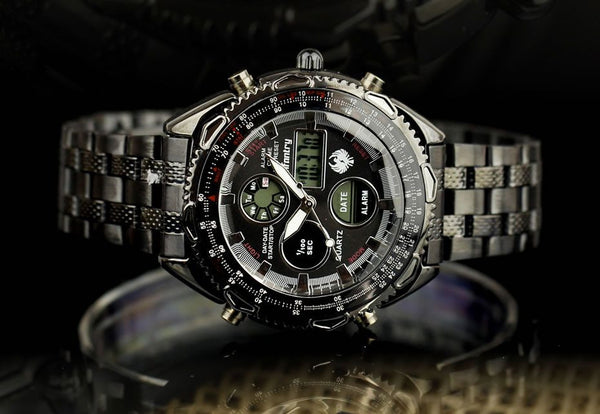 Dual Core Military Style Wrist Watch