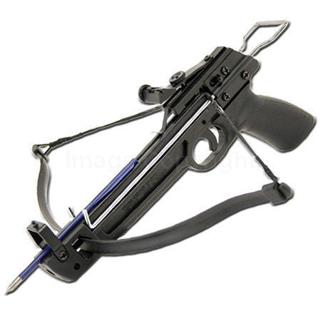 50lb  PISTOL CROSSBOW + 12  FREE ALUMINUM ARROWS BOLTS