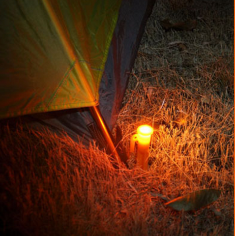 4 LED Light Up Tent Stakes Survival Night Lights