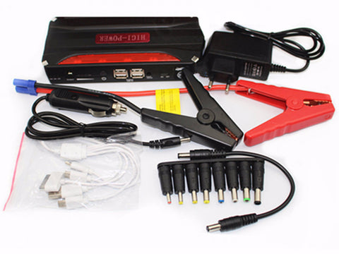 Emergency booster power bank Car jump starter High power battery pack/charger  68800mah