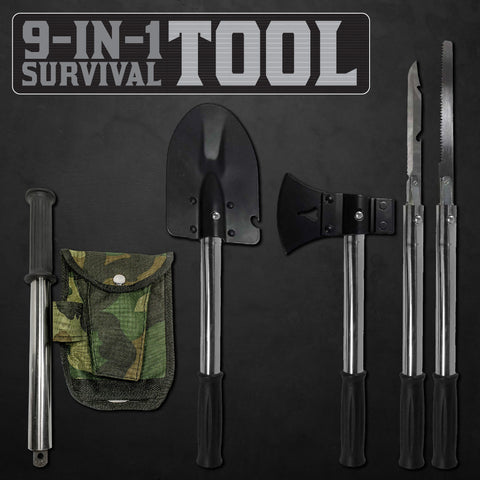 9-IN-1 Ultimate Emergency Survival Tool Kit