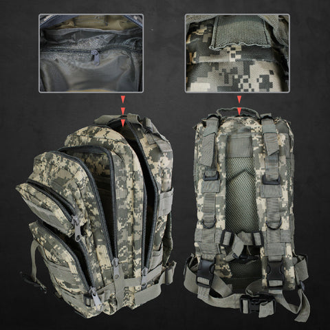 Outdoor Military Style Tactical Backpack + Water Bladder