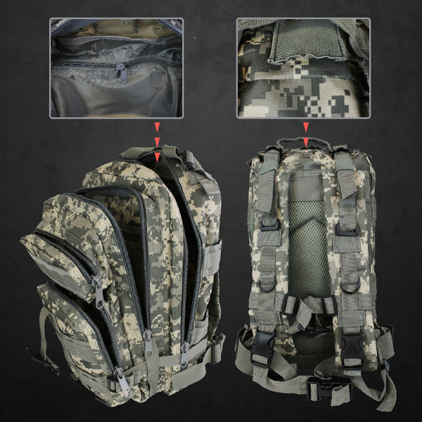 Outdoor Military Style Tactical Backpack + FREE Mug