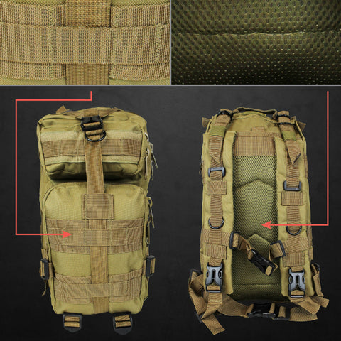 Outdoor Military Style Tactical Backpack 20L