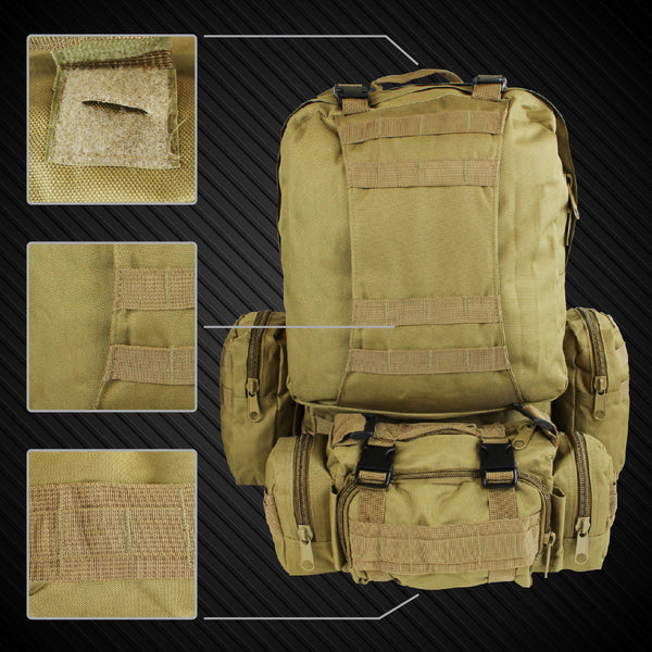 Large Military Style Hiking Backpack