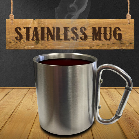 Stainless Steel Mug with Carabiner Clip Handle