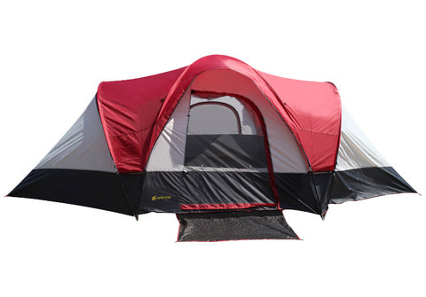 Ultra-Large 8 -10 People 3 Room Double Layer Waterproof Camping Tent