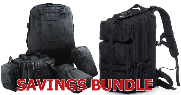Military Style Backpack Bundle
