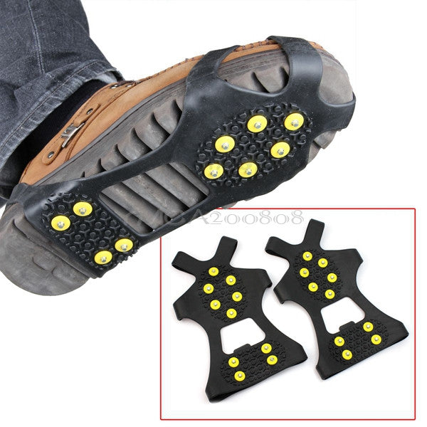 Anti-slip Pair Ice Spikes Grips Crampons