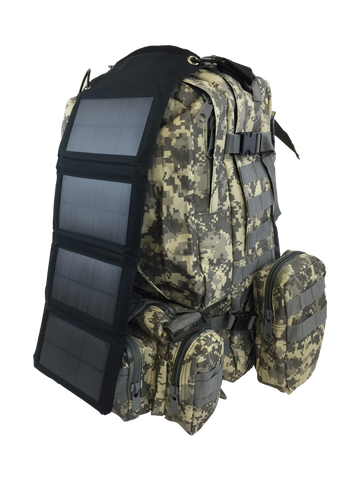 7W Foldable Solar Charger for Backpacks + 2 FREE MOLLE Clips