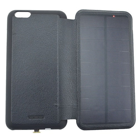 SOLAR Charging iPhone 6/ 6 Plus Protective Leather Phone Case