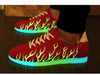 Luminous Fluorescence Emitting Shoes