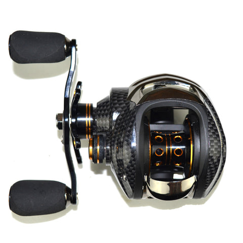 Bait Caster Fishing Reel With Double Brake System