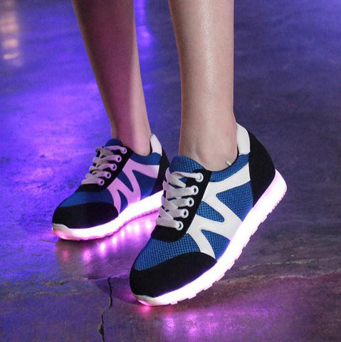 Womans Summe Fun LED luminous USB Rechargeable Shoes