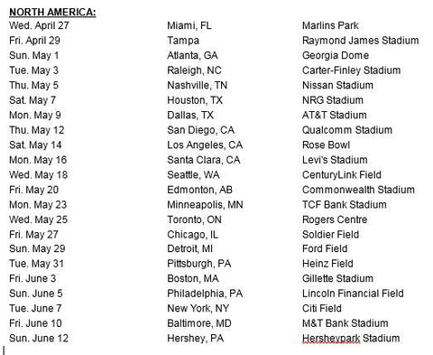 beyonce formation world tour dates