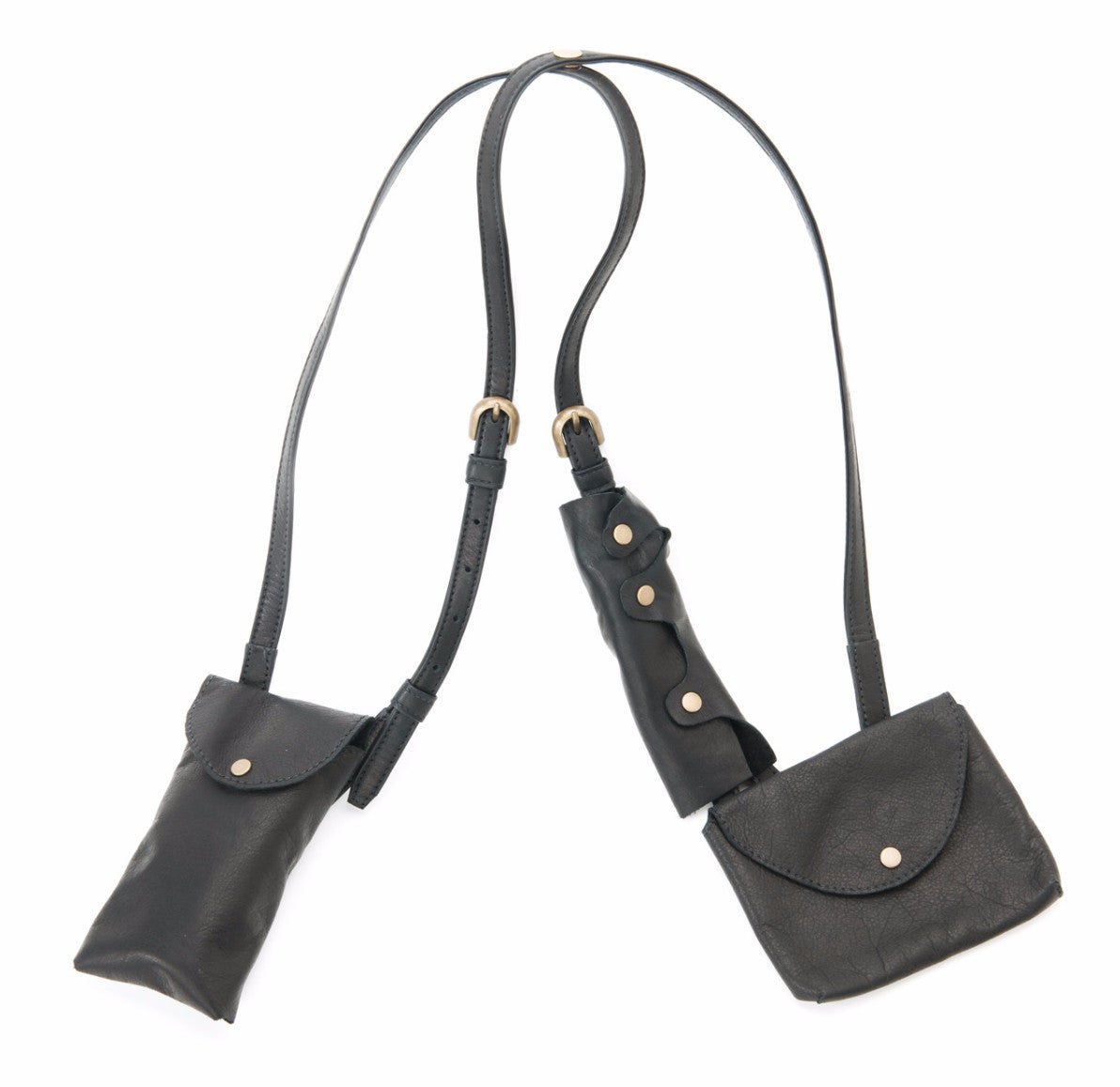 size 40 38113 e6487 Soft Black Leather Cell Phone Shoulder Holster - Molly Shaheen