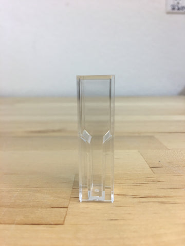 4ml Square Plastic Test Tubes vials, QTY 100
