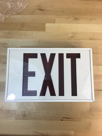 Hubbell Exit Sign LED1EMRWW