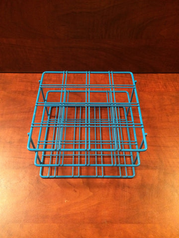 BEL-ART Blue Epoxy-Coated Wire 16-Position Place Test Tube Rack