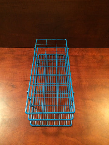 BEL-ART Blue Epoxy-Coated Wire 24-Position Place Test Tube Rack