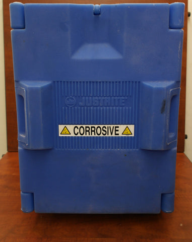 Justrite 24040 Corrosive Safety Cabinet, 19-1/2 In