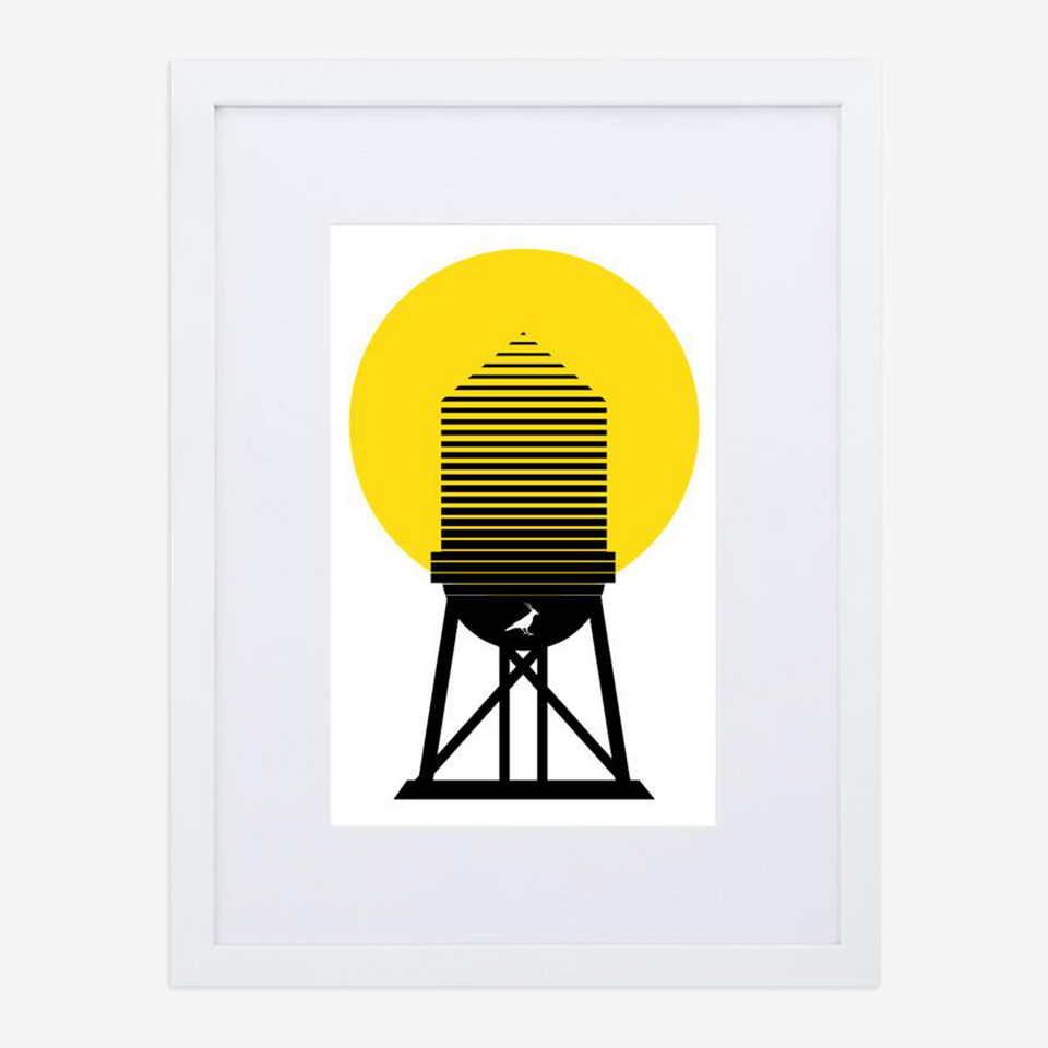 Watertower / Framed Poster With Mat
