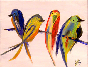 Birds Four Paint Kit (8x10 or 11x14)