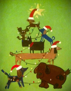 Christmas Tree Dogs Paint Kit (8x10 or 11x14)