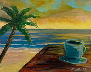 Coffee On The Beach Paint Kit (8x10 or 11x14)