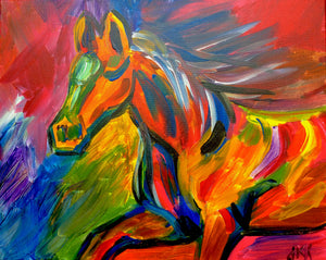 Colorful Horse Paint Kit (8x10 or 11x14)