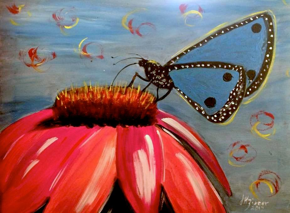 Coneflower Butterfly Paint Kit (8x10 or 11x14)