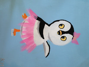 Dancing Penguin Paint Kit (8x10 or 11x14)